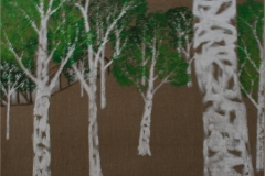 Birkenwald (Acryl auf Juteleinwandkeilrahmen, 200 x 100 cm)