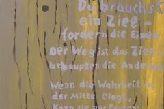 Ziele (Acryl, Leinwand auf Keilrahmen, 70 x 50 cm).